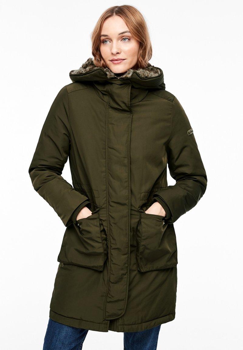 s.Oliver - MIT PLÜSCH-DETAILS - Winter coat - olive