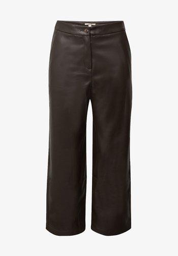 FASHION  - Trousers - brown