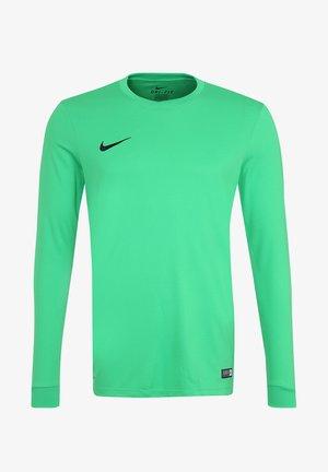 Long sleeved top - hyper verde / white