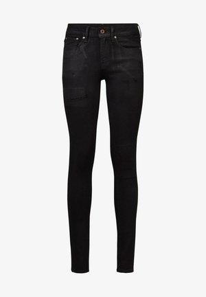 3301 MID SKINNY - Jeans Skinny Fit - black radiant cobler restored
