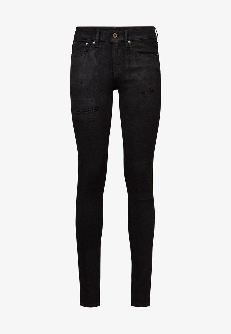 G-Star - 3301 MID SKINNY - Jeans Skinny Fit - black radiant cobler restored