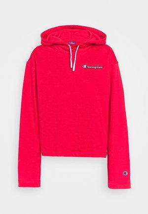 HOODED ROCHESTER - Bluza z kapturem - red