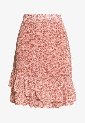 PILAR - A-line skirt - redwood
