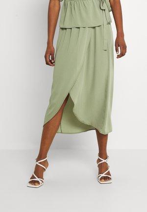 VMVEGA ELASTIC FAKE WRAP SKIRT - Pencil skirt - oil green