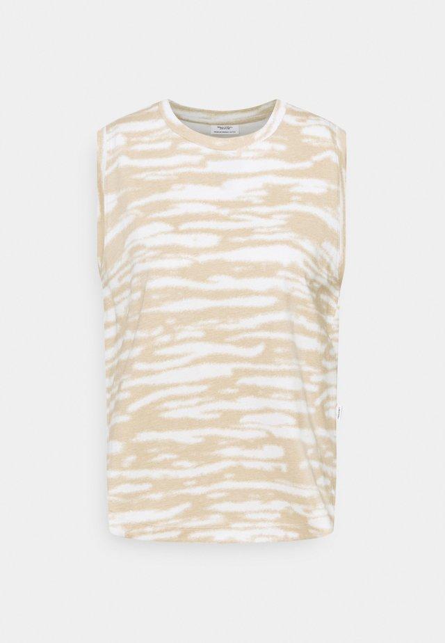 SLEEVELESS - Print T-shirt - multi/island beige