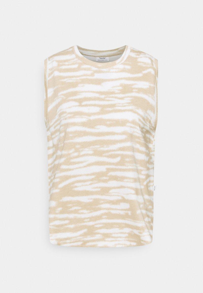 Marc O'Polo DENIM - SLEEVELESS - Print T-shirt - multi/island beige