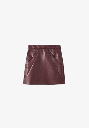 A-line skirt - mottled red