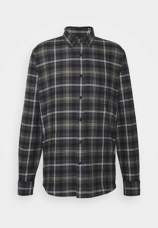 STRIPED PLAID - Shirt - dark charcoal