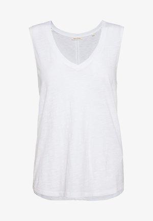 V NECK SOLID - Top - white
