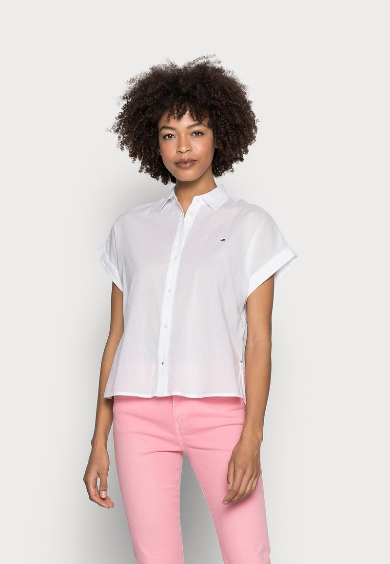 Tommy Hilfiger - COTTON VOILE RELAXED SHIRT - Button-down blouse - white