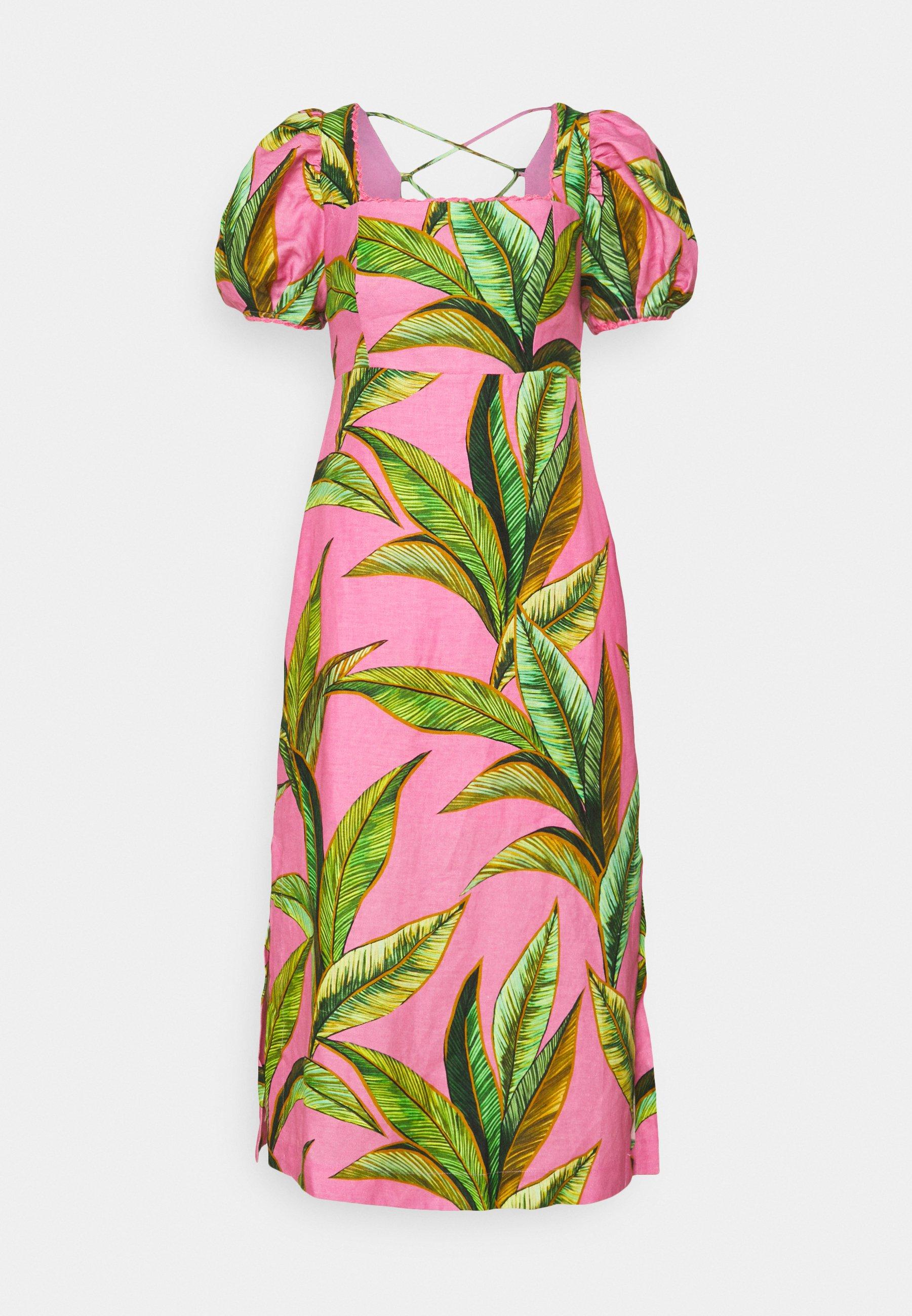 Women FLIAGE CROSSED BACK MIDI DRESS - Day dress