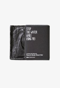 STOP THE WATER WHILE USING ME! - LIMITED ALL NATURAL FACE & BODY WASH BAR - Fast tvål - black - 0