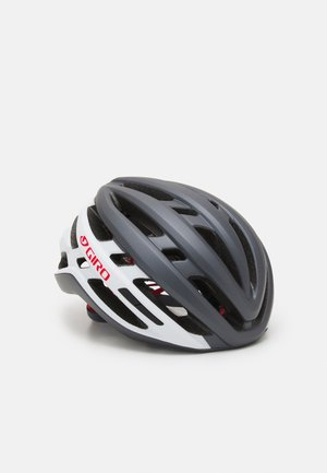 AGILIS UNISEX - Helm - matte portaro grey/white/red