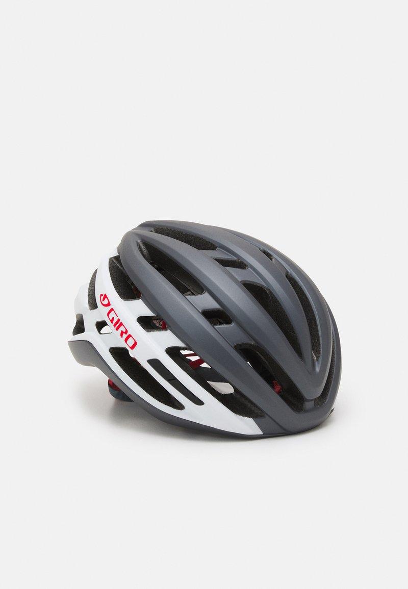 Giro - AGILIS UNISEX - Helm - matte portaro grey/white/red