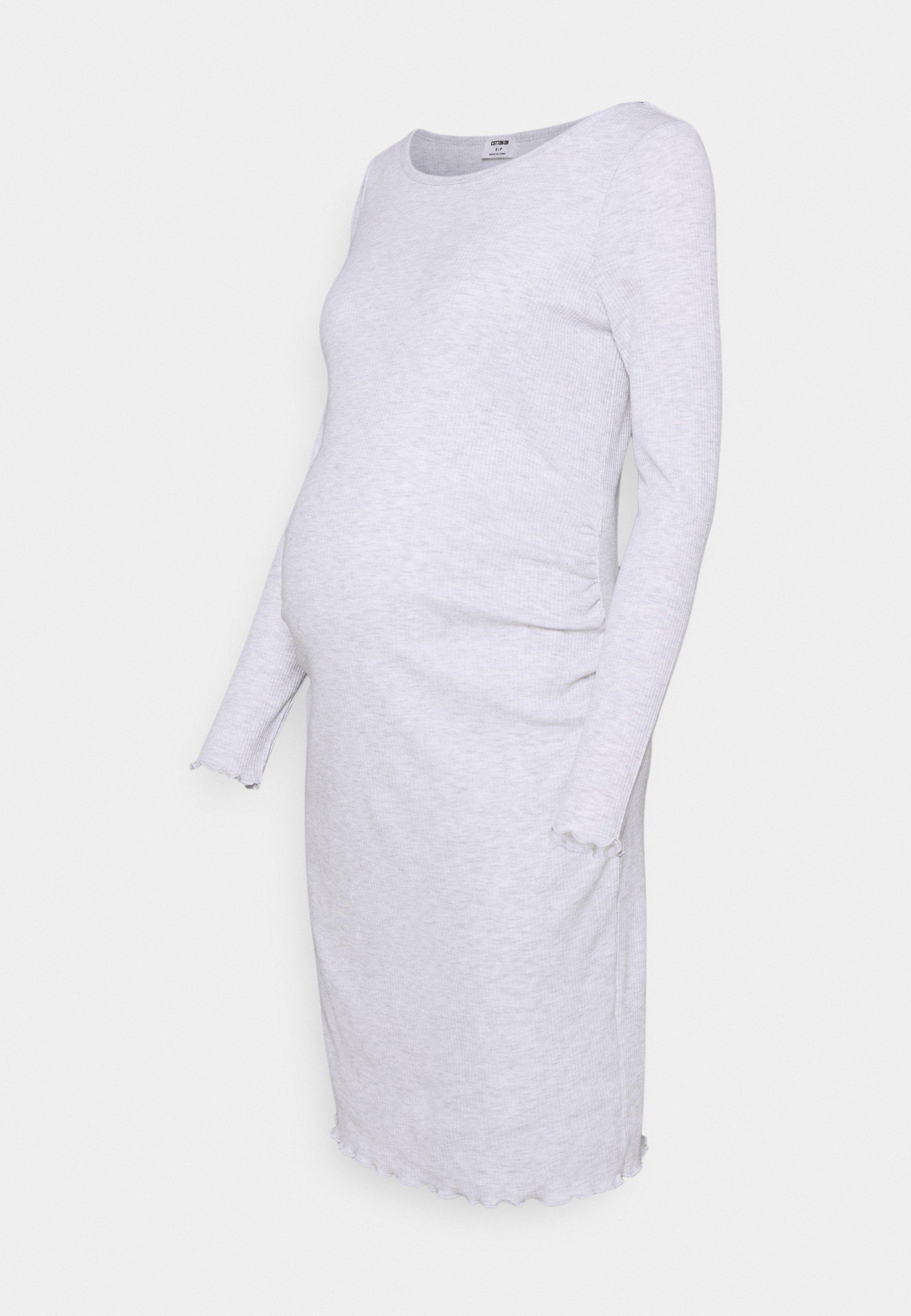 Damen MATERNITY LETTUCE EDGE LONG SLEEVE DRESS - Jerseykleid