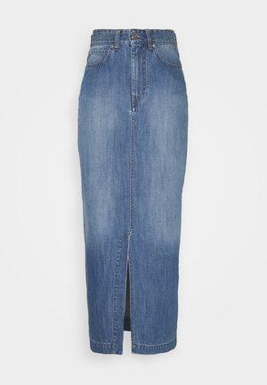 FRONT SPLIT SKIRT - Spódnica jeansowa - fresh blue