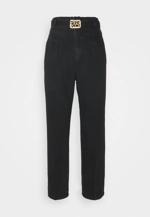 CHERYL TROUSERS - Jeansy Relaxed Fit - black