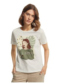 comma casual identity - Print T-shirt - offwhite - 0