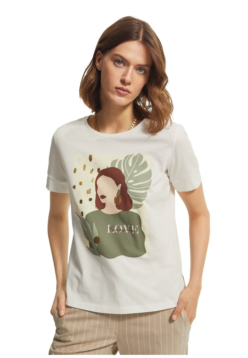 comma casual identity - Print T-shirt - offwhite