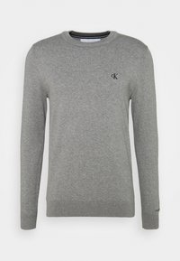Calvin Klein Jeans - MONOGRAM CHEST LOGO  - Jumper - mid grey heather - 0