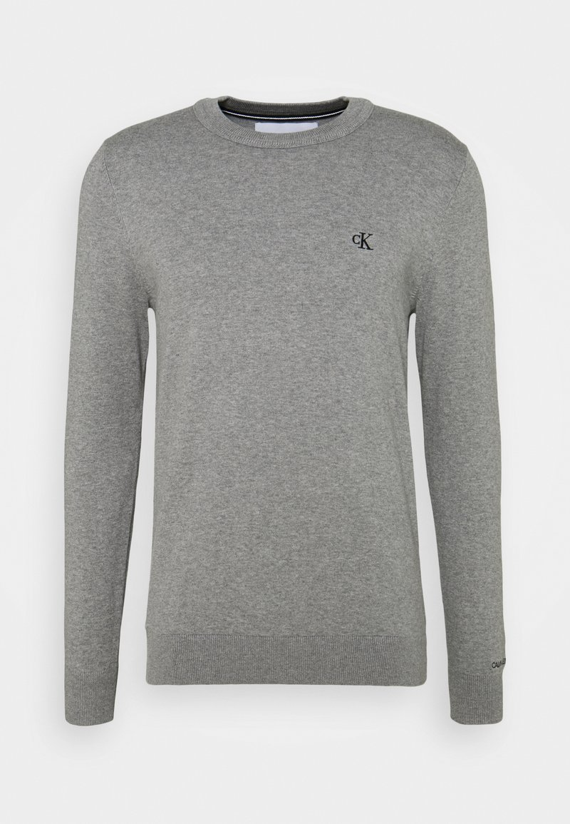Calvin Klein Jeans - MONOGRAM CHEST LOGO  - Jumper - mid grey heather