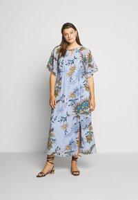 JUNAROSE - by VERO MODA - JRSHIRIAMIA SLEEVE DRESS  - Korte jurk - zen blue - 1
