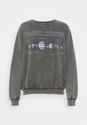 Printed Oversized Crew Neck Sweatshirt