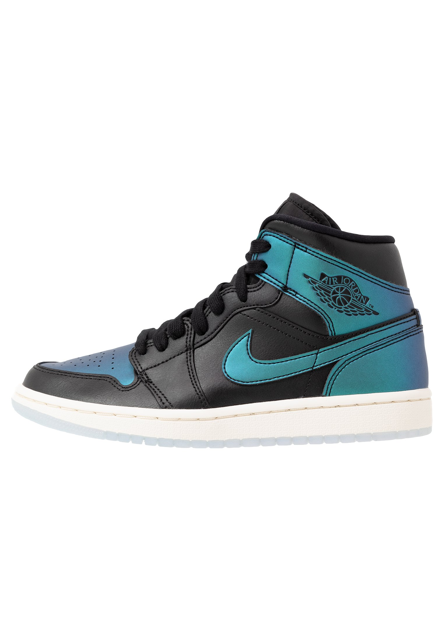 AIR 1 MID - Sneakers alte - black/pale ivory/multicolor