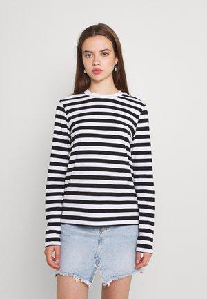 Maglietta a manica lunga - black/bright white