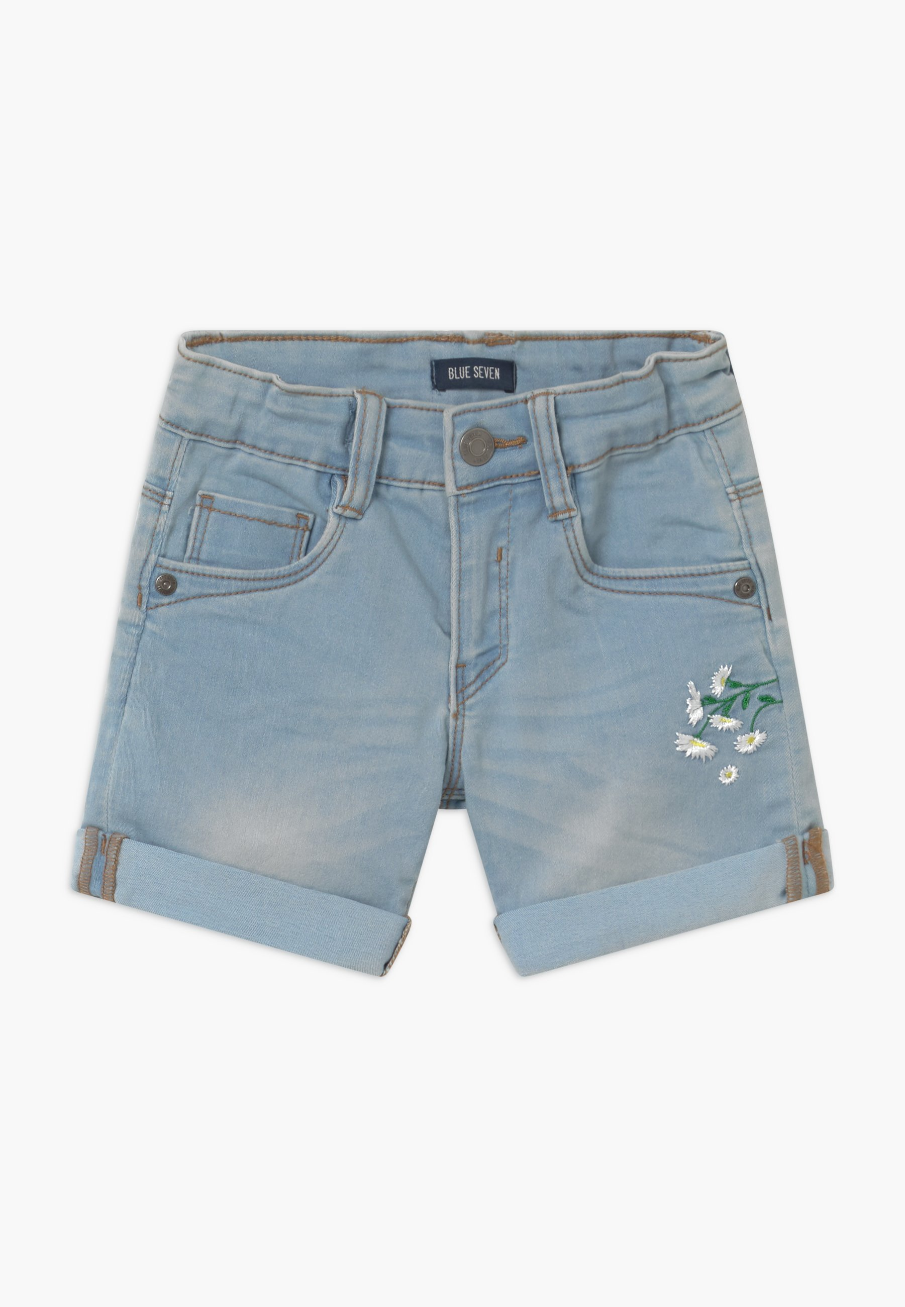 Kids SMALL GIRLS DAISY - Denim shorts - jeansblau