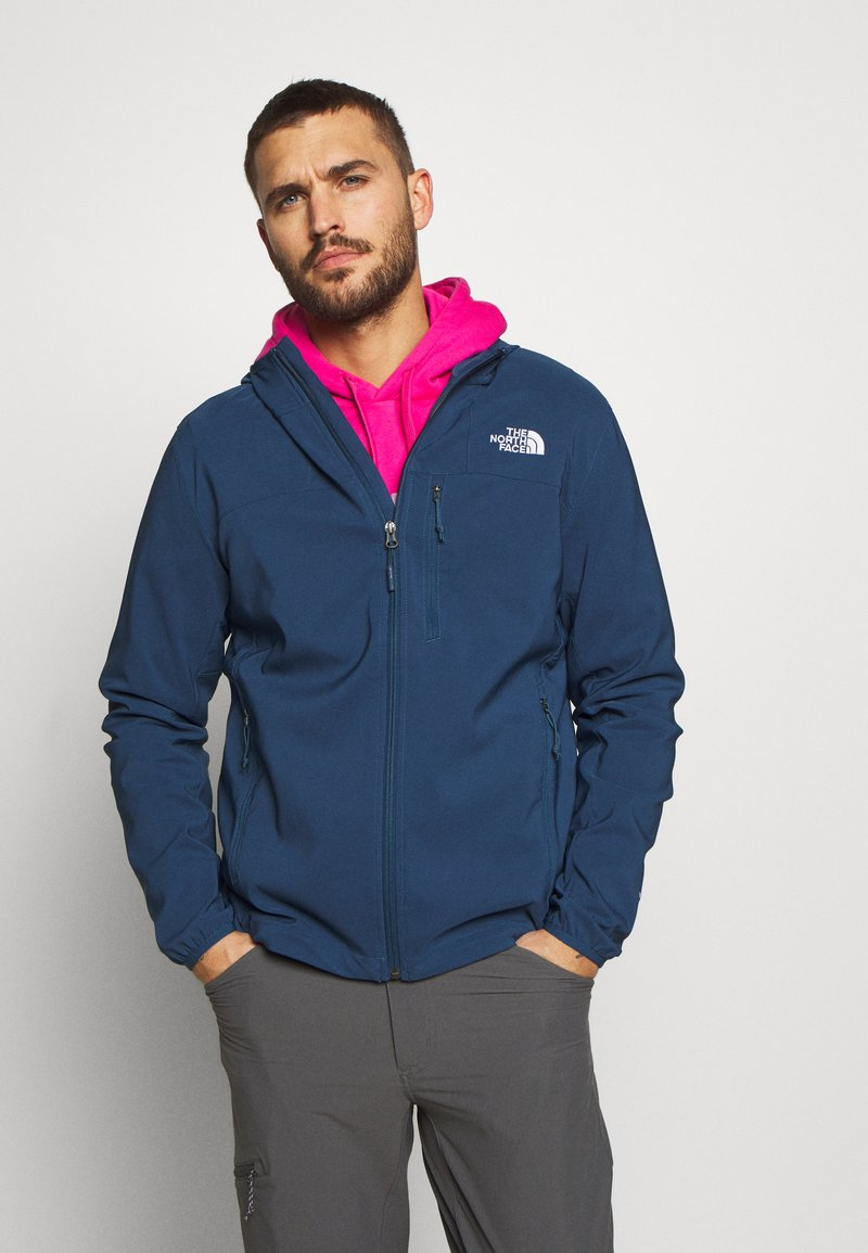 The North Face - NIMBLE HOODIE - Veste softshell - blue wing teal