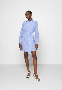 Liu Jo Jeans - ABITO CAMICIA STRIPES - Shirt dress - blue wave - 1