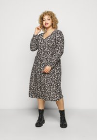 ONLY Carmakoma - CARCAN CALF DRESS  - Day dress - black/cement - 0