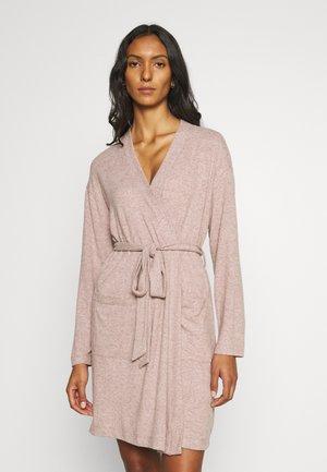 PLUSH ROBE - Dressing gown - almond rose
