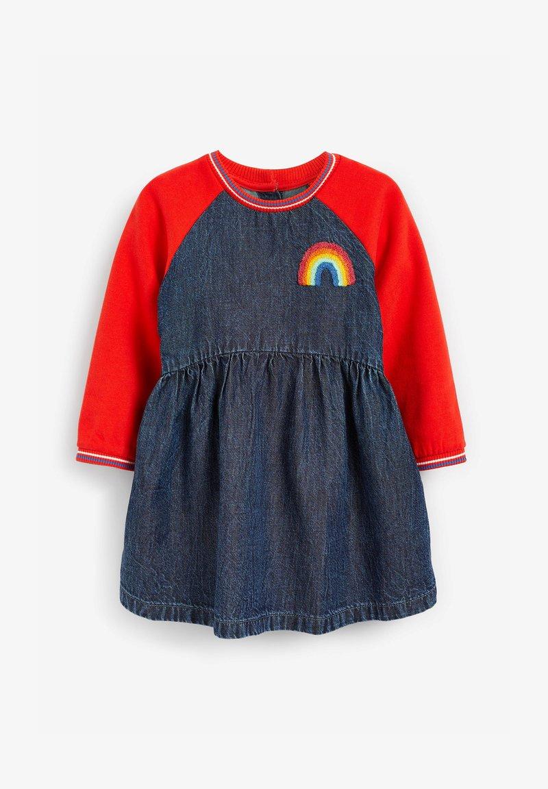 Next - RAGLAN - Denim dress - coloured denim