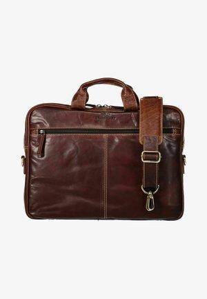 Laptop bag - dark-brown plain