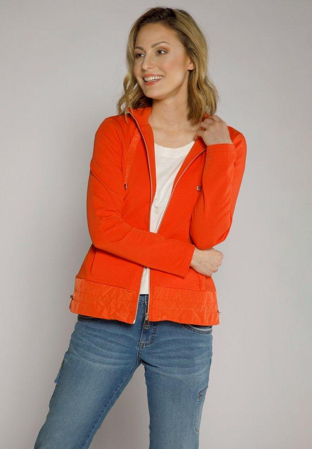 Hoodie met rits - orange
