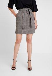 ONLY - ONLRIGIE SAVIL SKIRT - Mini skirt - light brown - 0