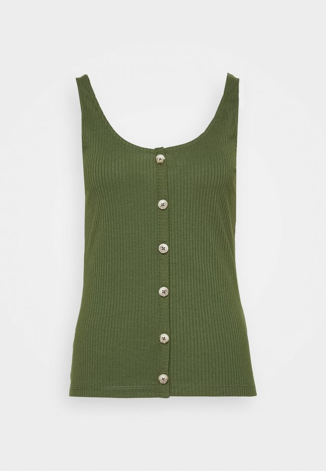 WITH PLACKET - Top - green