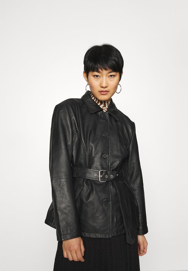 TYRA JACKET - Leren jas - black