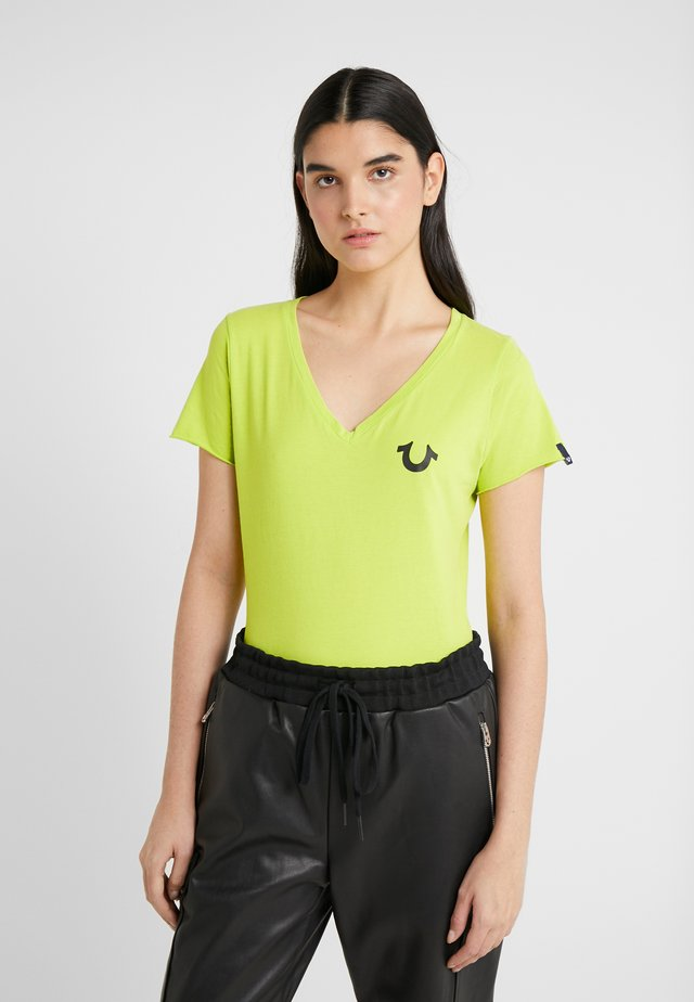 EXCLUSIVE VNECK  - T-shirt con stampa - acid lime