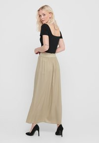 ONLY - Pleated skirt - white pepper - 2