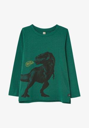 SLIM FIT LANGÄRMLIGES - T-shirt print - grüner dino