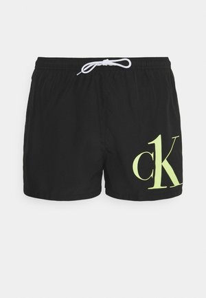 DRAWSTRING - Swimming shorts - black