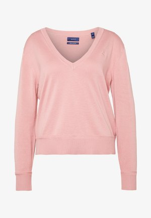 LIGHT VNECK - Jumper - summer rose