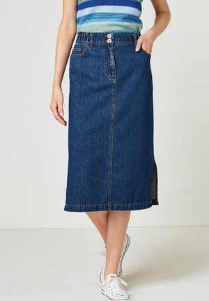 Spódnica jeansowa - dark blue