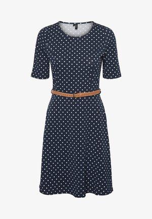 SCARLET - Jersey dress - blue