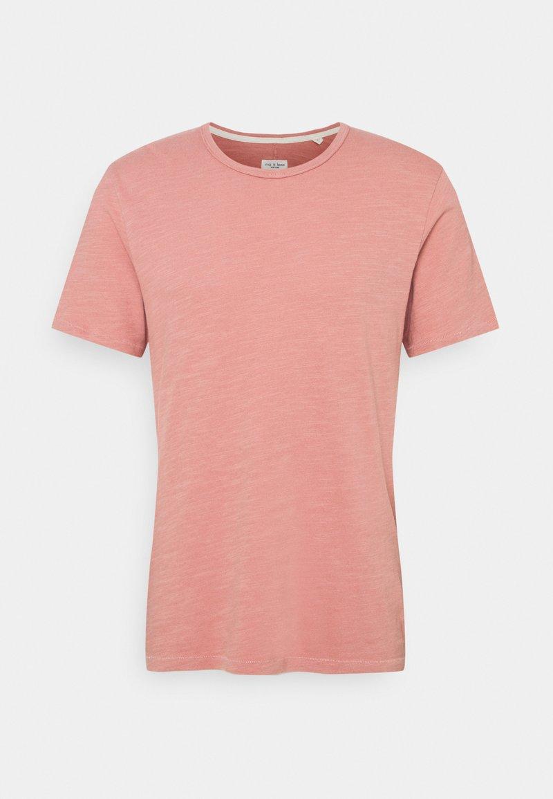 rag & bone - CLASSIC TEE FLAME - T-shirt basique - rose