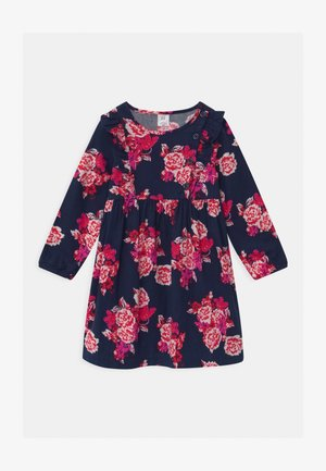 TODDLER GIRL FLORAL - Blusenkleid - navy