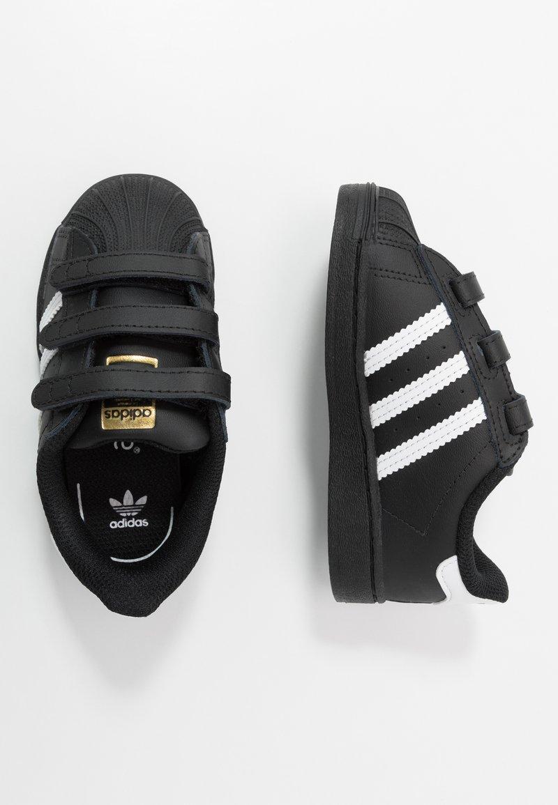 adidas Originals - SUPERSTAR - Sneakersy niskie - core black/footwear white